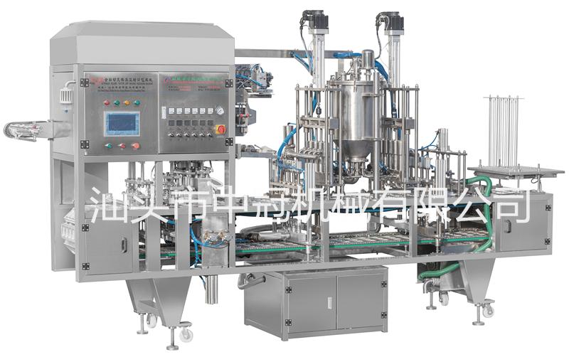 CFD-4型全自動充填真空封口包裝機(SED隔膜閥、CIP清洗系統)
