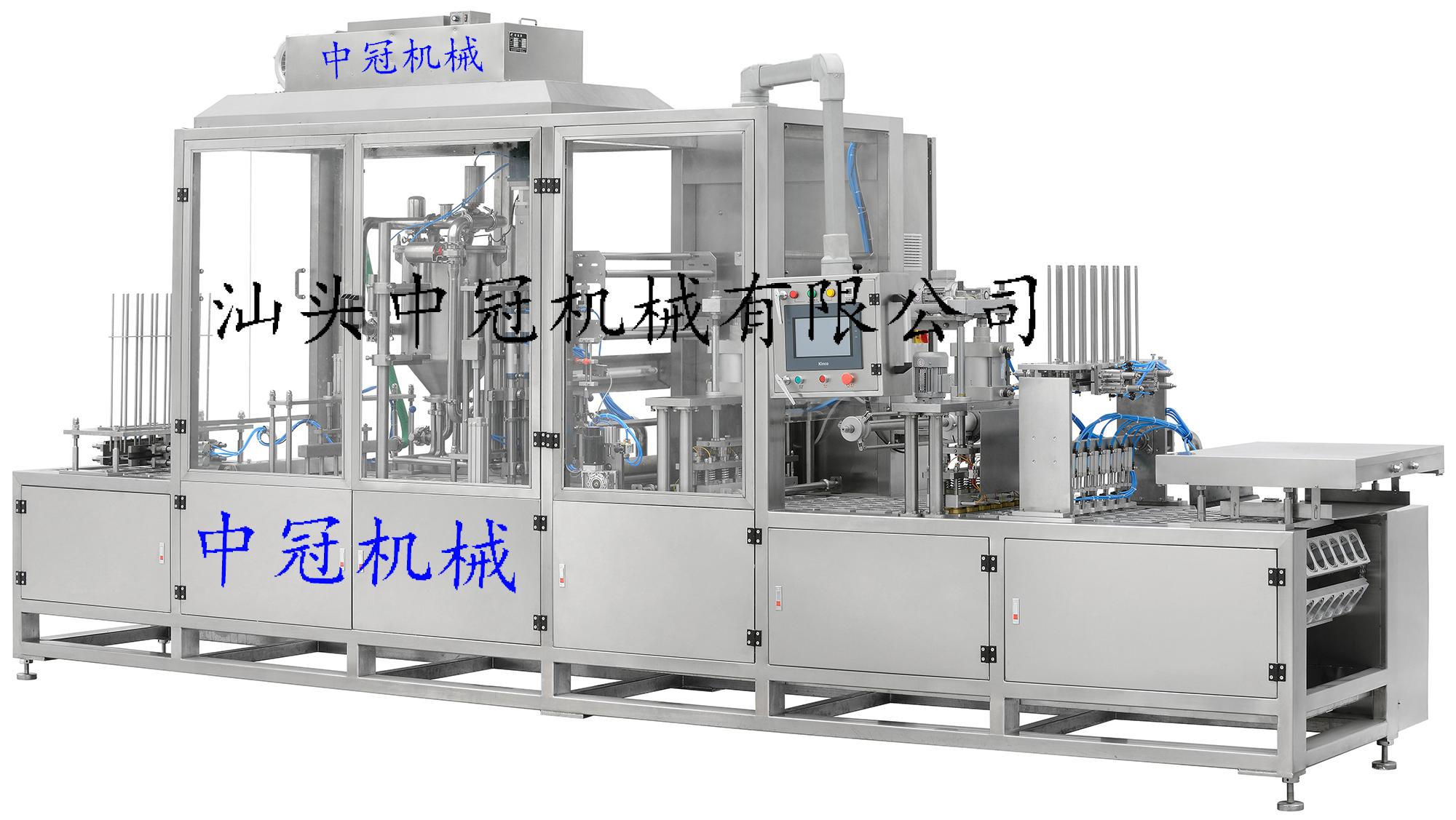 CFD-SF-6型全自動伺服充填封口包裝機(瓶、杯共用,單片膜伺服放膜)